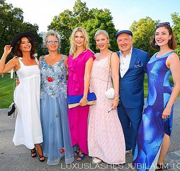 Luxuslashes, Jubiläum, Palais Schönburg , Gitta Saxx, Tanja Bülter, Eva Habermann, Anne Berndt